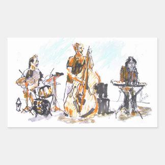 Jazz Trio Concert Rechteckiger Aufkleber
