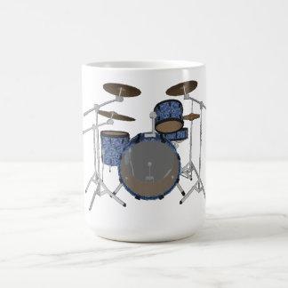 Jazz-Trommel-Ausrüstung: Kundenspezifisches Blau Kaffeetasse