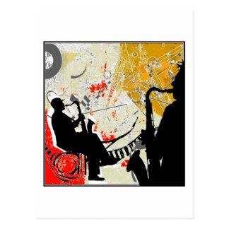 Jazz-Typen Postkarte