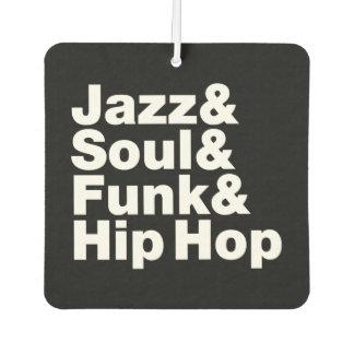 Jazz u. Soul u. Funk u. angesagtes Hopfen Autolufterfrischer