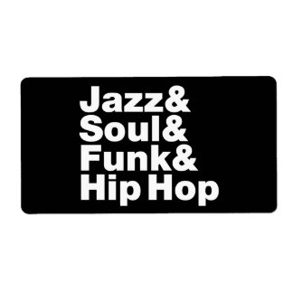 Jazz u. Soul u. Funk u. angesagtes Hopfen Versandetiketten