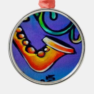Jazz und Trommeln Silbernes Ornament