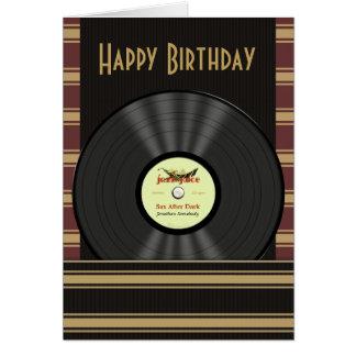 Jazz-Vinylaufzeichnungs-personalisierte Karten
