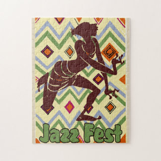Jazzfest-abstrakter Tänzer Puzzle