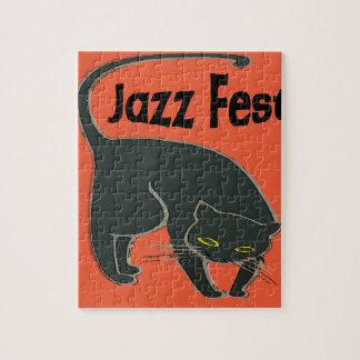 Jazzfest-Chat Noir, Rot 2015 Puzzle