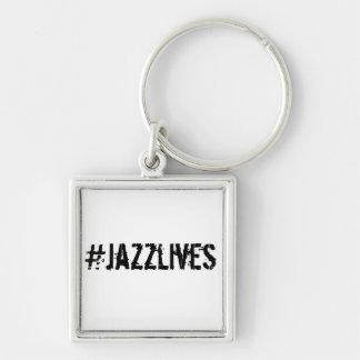 #jazzlives erstklassiges quadratisches Keychain Schlüsselanhänger