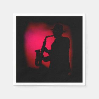 Jazzman-Karneval-Party-Papierservietten Papierserviette