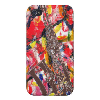 JazzSaxophone abstrakt iPhone 4 Case