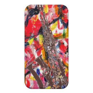 JazzSaxophone abstrakt iPhone 4 Hüllen