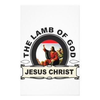 jc das Lamm des Gottes Briefpapier