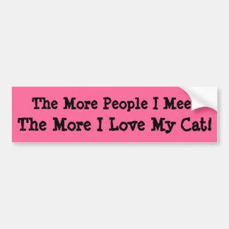 Je mehr Leute, die ich mich treffe, desto mehr Autoaufkleber