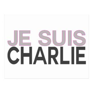 Je Suis Charlie! - Ich bin Charlie Postkarte
