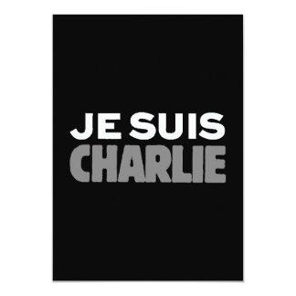 Je Suis Charlie - ich bin Charlie-Schwarzes Karte