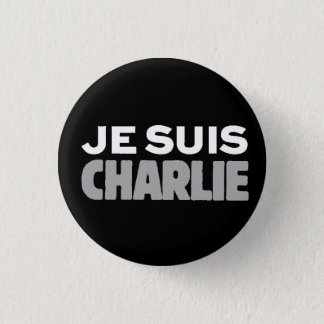 Je Suis Charlie-ICh morgens Charlie-Universeller Runder Button 2,5 Cm
