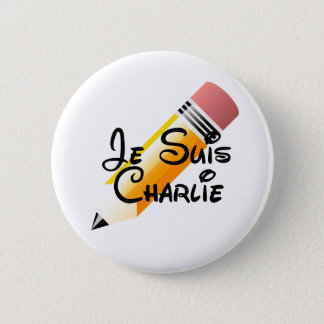 Je Suis Charlie Knopf Runder Button 5,1 Cm