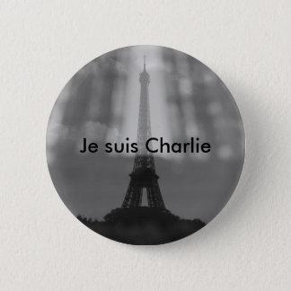 Je Suis Charlie Knopf Runder Button 5,7 Cm
