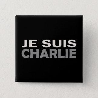 Je Suis Charlie Quadratischer Button 5,1 Cm
