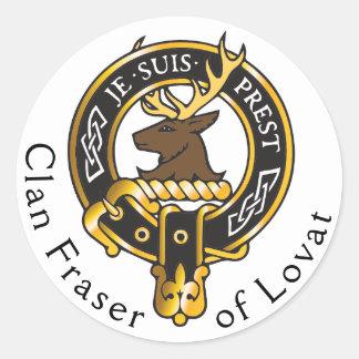 Je Suis Prest - Clan Fraser Wappen Runder Aufkleber