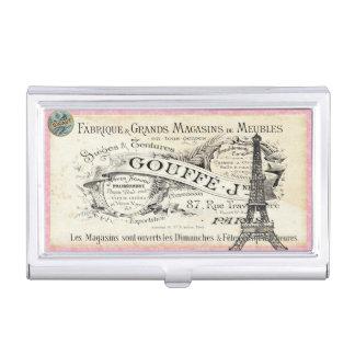 je t aime Vintager Paris-Geschäfts-Kartenhalter Visitenkarten Dose