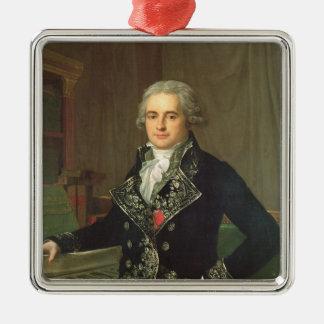 Jean Antoine Chaptal Comte de Chanteloupe Quadratisches Silberfarbenes Ornament