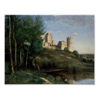 Jean-Baptiste-Camille Corot - Ruinen des Chateaus Poster