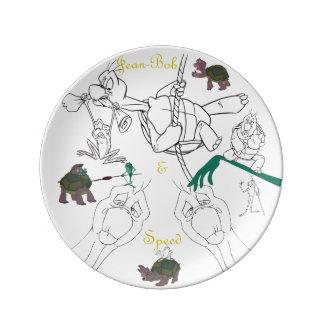 """Jean-Bob&Speed Porzellan-Skizze-Platte (8,5"""") Teller"""