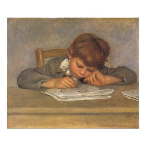 Jean, der durch Renoir, Vintage Plakatdruck