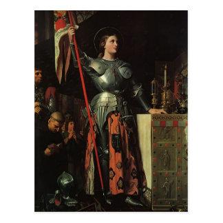 Jean Dominique Ingres- Jeanne d Arc Postkarte