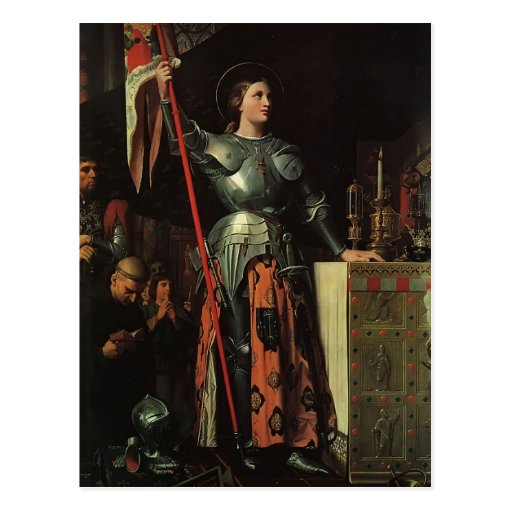 Jean Dominique Ingres- Jeanne d'Arc Postkarte