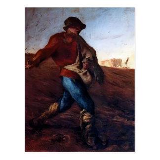 Jean-Francois-Hirse der Sower Postkarte