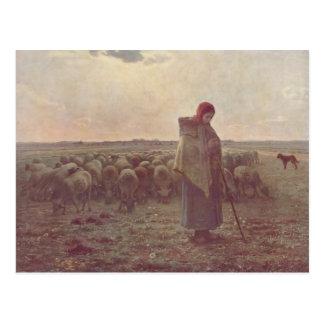 Jean-Francois-HirseShepherdess Postkarte