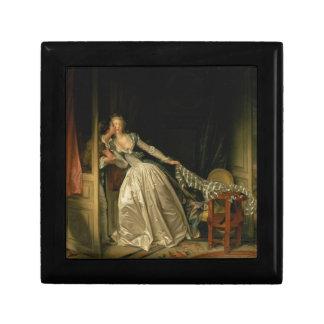 Jean-Honore Fragonard - der gestohlene Kuss - Geschenkbox