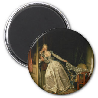 Jean-Honore Fragonard - der gestohlene Kuss - Runder Magnet 5,7 Cm