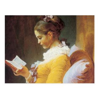 Jean-Honore Fragonard der Leser Postkarte