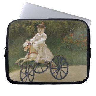 Jean Monet auf seinem Hobbypferd Laptopschutzhülle