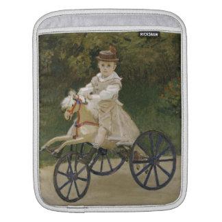 Jean Monet auf seinem Hobbypferd Sleeve Für iPads