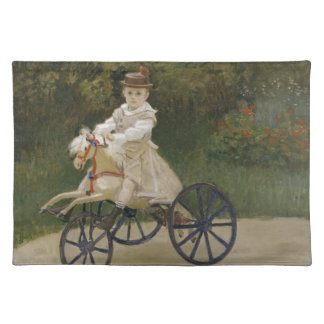 Jean Monet auf seinem Hobbypferd Tischset