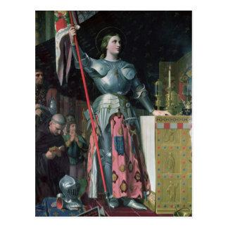 Jeanne d'Arc an der Krönung von König Charles Postkarte