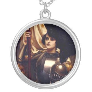 Jeanne d'Arc Halskette Mit Rundem Anhänger