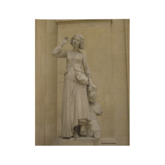 Jeanne d'Arc Holzposter