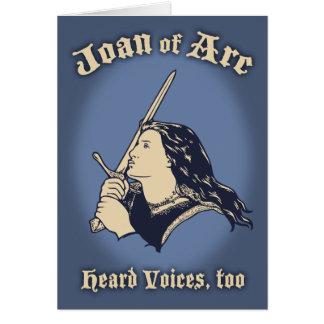 Jeanne d'Arc hörte Stimmen Karte