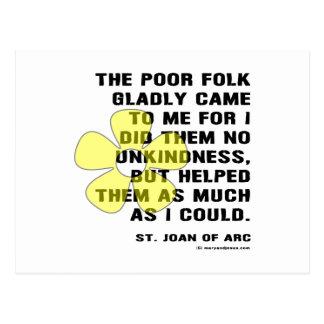 Jeanne d'Arc Kindess Postkarte