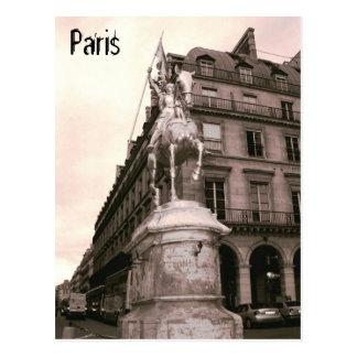 Jeanne d'Arc Statue-Paris-Postkarte Postkarte