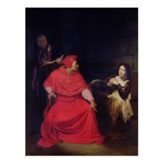 Jeanne d'Arc und der Kardinal von Winchester Postkarte