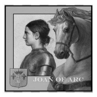 Jeanne d'Arc und ihr Schlachtross Poster