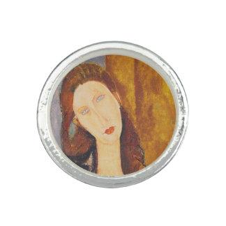 Jeanne Hebuterne Porträt durch Amedeo Modigliani Ring