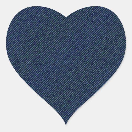 Jeans Herz-Aufkleber
