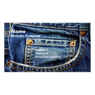Jeans Visitenkarten Vorlagen