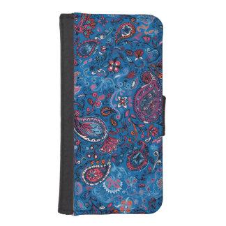 Jeanse traditionelles Paisley blaues mit Geldbeutel Hülle Für Das iPhone SE/5/5s