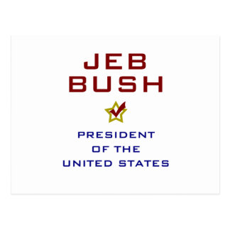 Jeb Bush-Präsident USA V2 Postkarte
